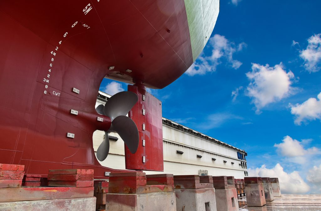 A marine survey in shipyard which is made from Belto Marine`s surveyor.
